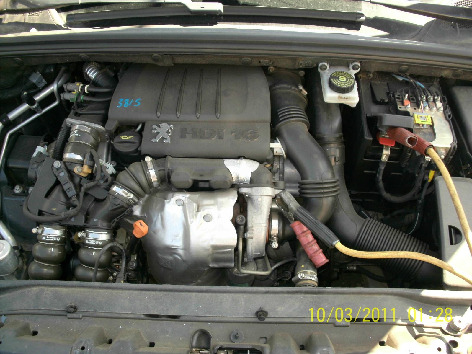 peugeot 308 engine diesel 1 6 t7 dv6ted4 code vin vf34. Black Bedroom Furniture Sets. Home Design Ideas